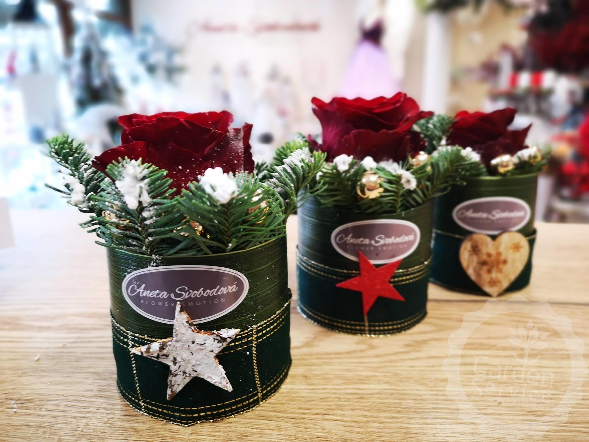 Květinové pralinky-Vánoční výzdoba